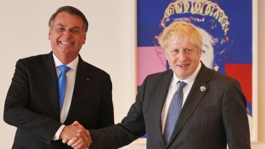 Bolsonaro e Johnson se reuniram em Nova York durante viagem para participar da Assembleia Geral da ONU - PA Media