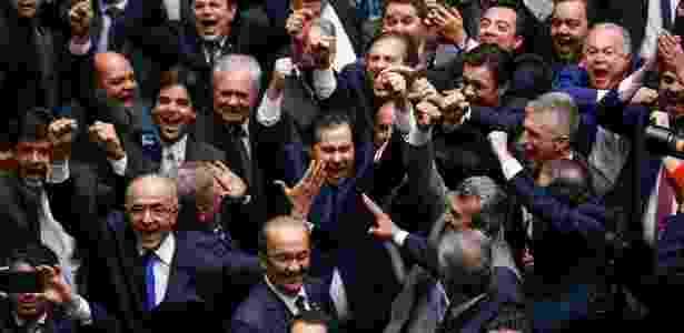 Rodrigo Maia comemora vitória na eleição para presidente da Câmara dos Deputados - Pedro Ladeira - 13.jul.2016/Folhapress