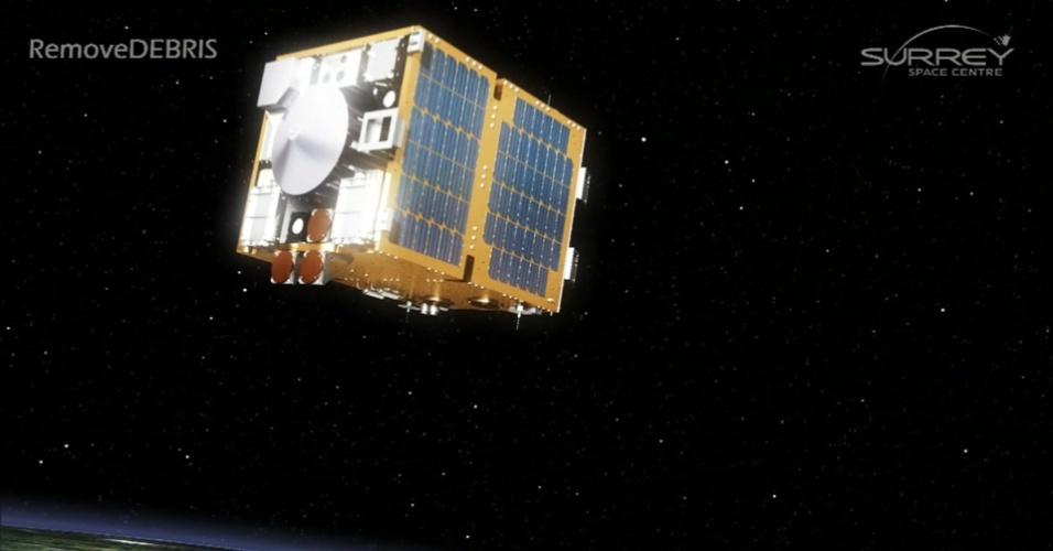 28.nov.2016 -Para resolver o problema de lixo espacial, cientistas planejam enviar ao espaço no ano que vem uma nave criada para testar maneiras de se livrar desses detritos