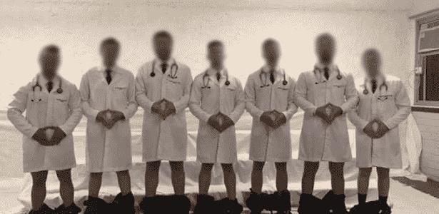 Foto de médicos gerou revolta nas redes sociais - Reprodução