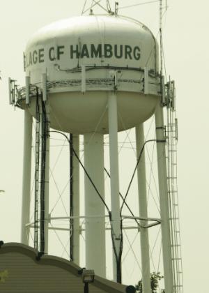 A torre de água de Hamburg, em Nova York