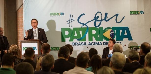10.ago.2017 - Deputado federal Jair Bolsonaro (PSC-RJ) faz pronunciamento em hotel do Rio