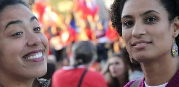 Talíria Petrone (e) e Marielle Franco, ambas vereadoras do PSOL e amigas - Arquivo Pessoal