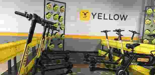Patinetes da Yellow estão em projeto-piloto - Divulgação