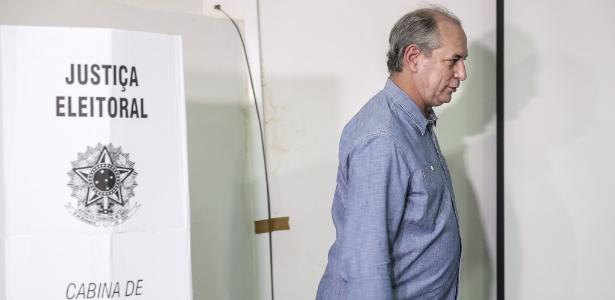 Ciro Gomes (PDT), derrotado 1º turno, votou em Fortaleza (CE) no 2º turno