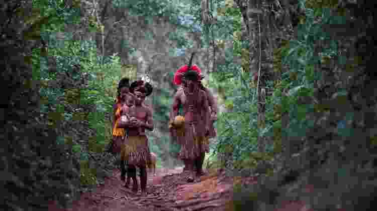 29.jan.2019 - Indígenas da tribo Pataxó Hã-hã-hãe - Adriano Machado/Reuters