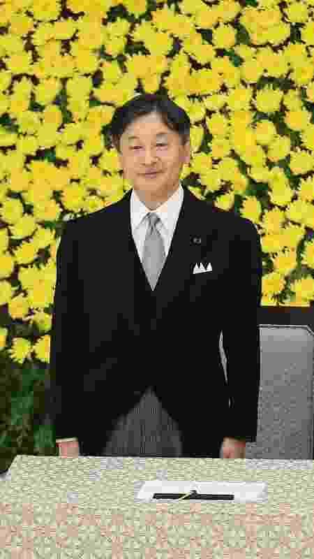O imperador do Japão, Naruhito, participa de cerimônia anual para relembrar os mortos na Segunda Guerra Mundial - Jiji Press/AFP