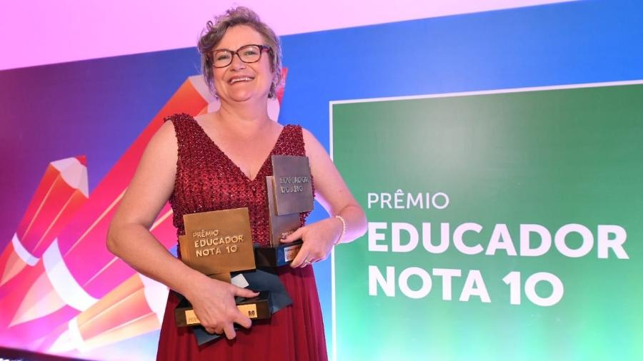 Joice Maria Lamb, 47, eleita a Educadora do Ano de 2019 - Divulgação
