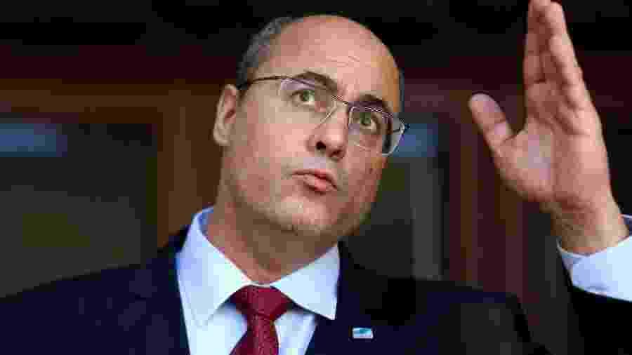 28/08/2020 - Wilson Witzel (PSC) faz pronunciamento após ser afastado do cargo de governador do Rio - Wilton Júnior/Estadão Conteúdo
