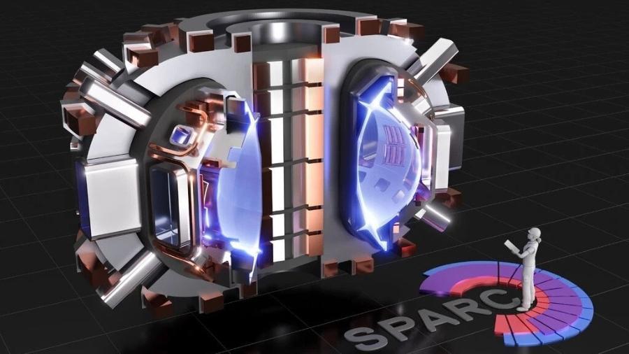 Modelo de como será o reator SPARC - T. Henderson/CFS/MIT-PSFC/Divulgação