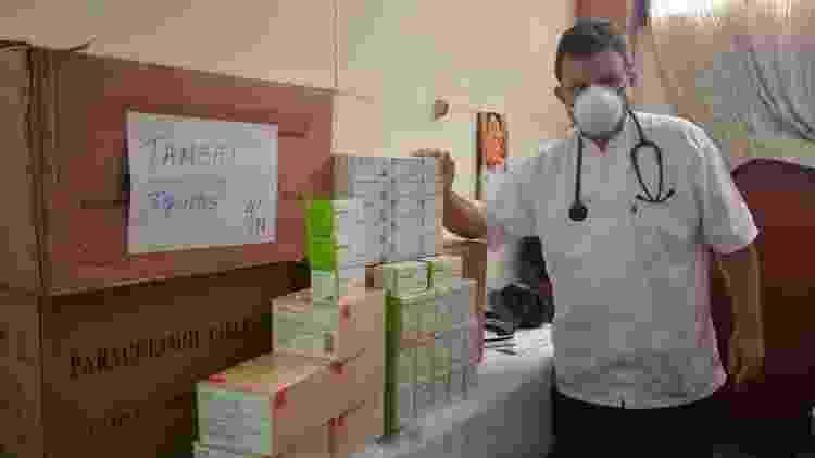 O padre Portillo arrecadou dinheiro para medicamentos e equipamentos de proteção em uma campanha de crowdfunding - Padre Portillo/Arquivo Pessoal - Padre Portillo/Arquivo Pessoal