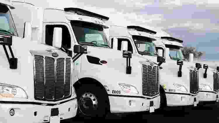 Caminhões em San Diego, EUA: financiamento internacional permitiu à empresa crescer - Divulgação - Divulgação