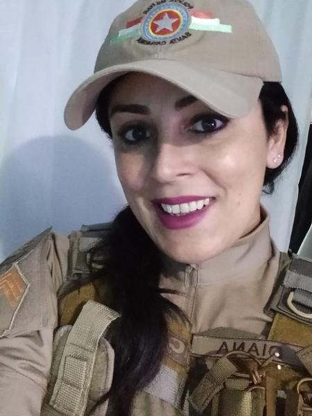 Priscila Diana está na PM de Santa Catarina há 23 anos - Arquivo Pessoal