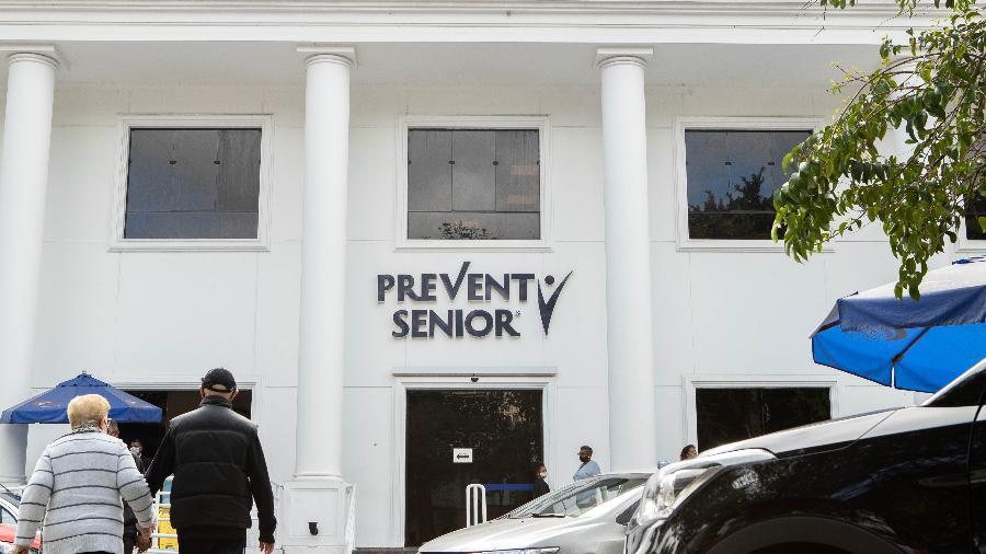 24.set.2021 - Movimentação em prédio da Prevent Senior localizado na Avenida Ibirapuera, na zona sul de São Paulo - Daniel Teixeira/Estadão Conteúdo