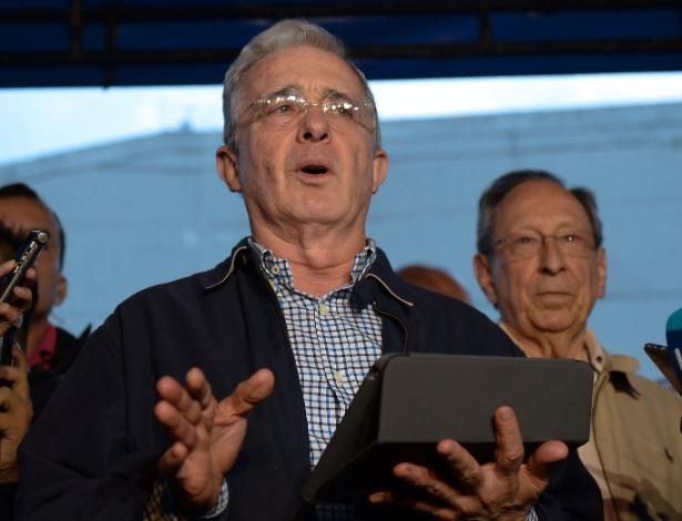 O ex-presidente colombiano Álvaro Uribe, em foto de arquivo
