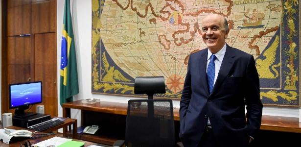 O senador José Serra (PSDB-SP) foi ministro das Relações Exteriores por 9 meses