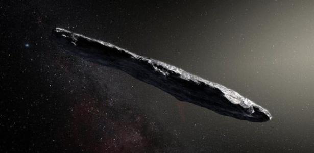 Oumuamua está deixando campo de visão dos astrônomos, após passar pelo Sistema Solar