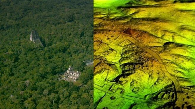 A cidade maia de Tikal estava rodeada de uma complexa rede de vias até então invisíveis