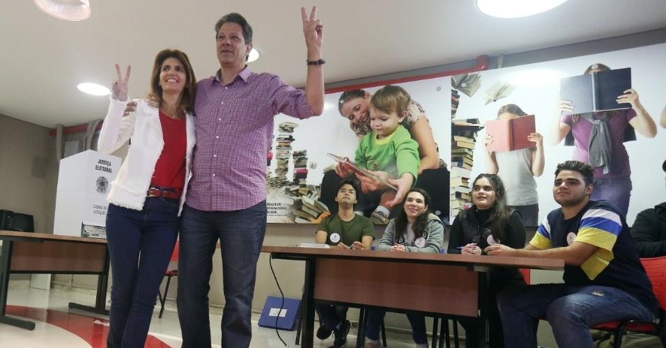 Ana Estela Haddad e Fernando Haddad votaram juntos em São Paulo