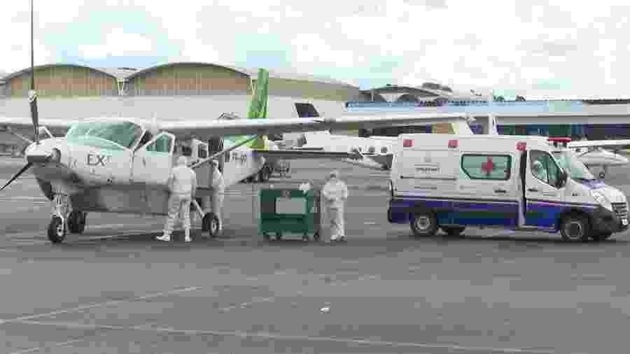 Sem estrutura, cidades do interior do AM precisam contar com UTIs aéreas para transportar pacientes - Secom/AM