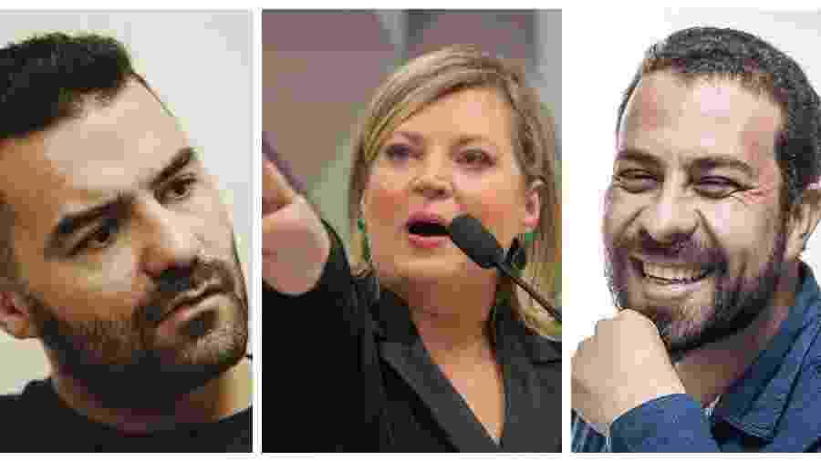 Arthur do Val, Joice Hasselmann e Guilherme Boulos polarizam nas redes - Montagem