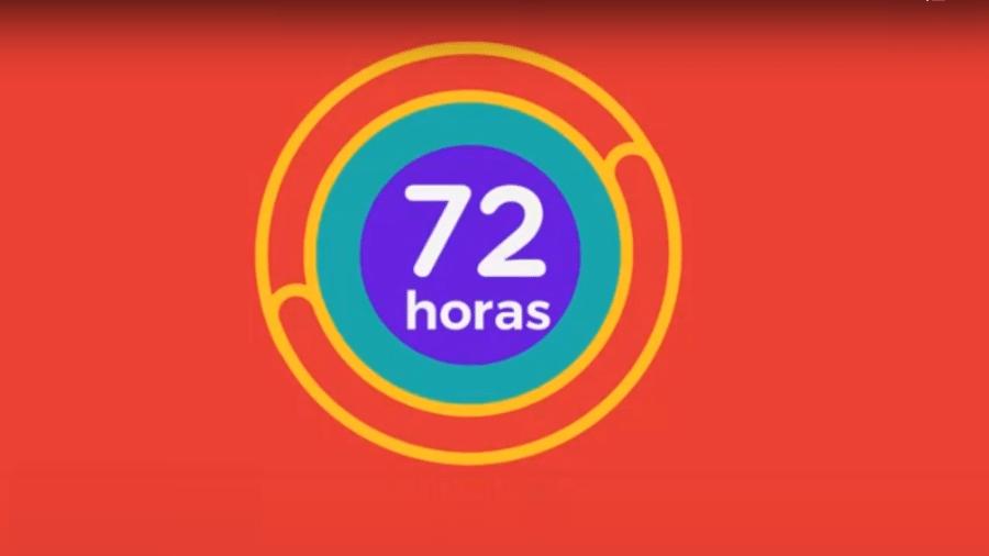 Símbolo da plataforma 72 Horas - Reprodução