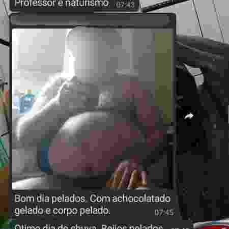 Professor de artes em escola estadual de Campinas (SP) manda foto nu a grupo de alunos - Reprodução