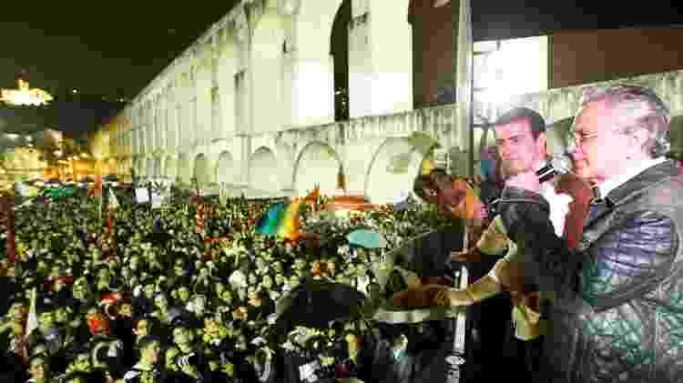 Caetano Veloso e Marcelo Freixo - Daniel Marenco/Folhapress - Daniel Marenco/Folhapress