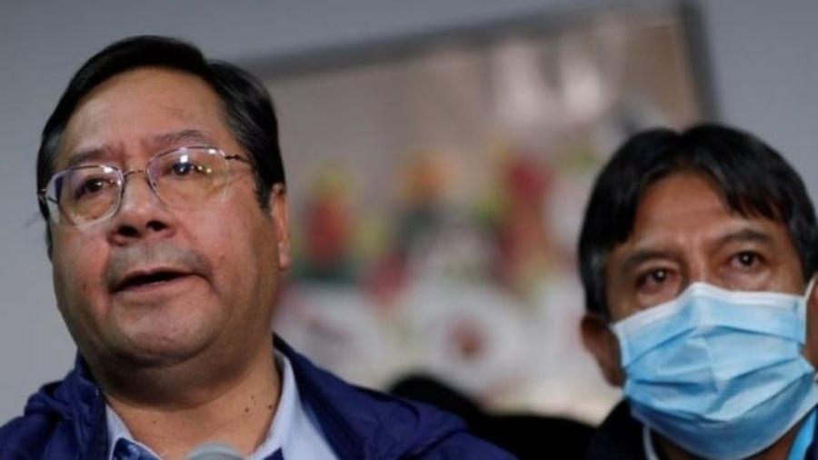 Luis Arce formou chapa presidencial com o ex-chanceler David Choquehuanca - Reuters