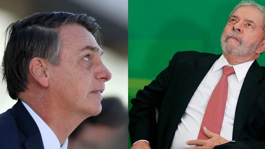 Bolsonaro e Lula - Adriano Machado/Reuters e Pedro Ladeira/Folhapress