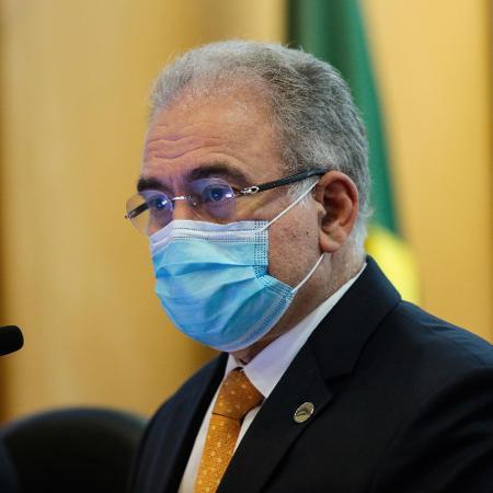 O Ministro da Saúde, Marcelo Queiroga, anunciou aporte para desenvolvimento de vacina, mas o valor foi cortado depois - Wallace Martins/Futura Press/Estadão Conteúdo