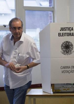 Eduardo Cunha vota no Rio de Janeiro