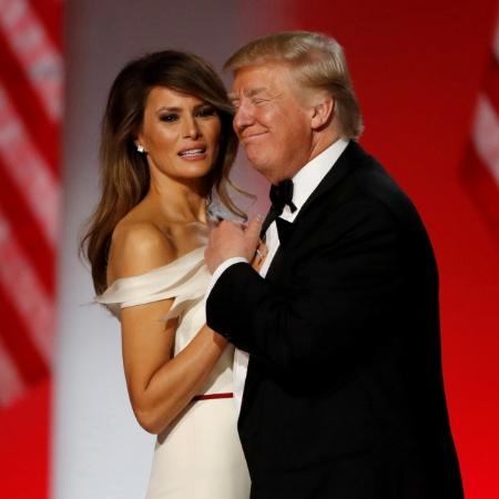 20.jan.2017 - Donald Trump e Melania dançam em noite de gala após a posse - Lucy Nicholson/Reuters
