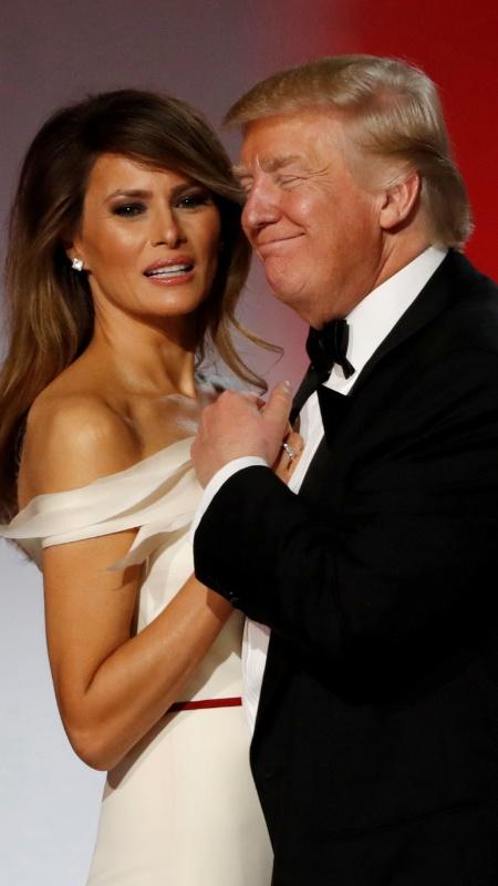 Donald Trump e Melania: expressão corporal do casal intriga especialistas - Lucy Nicholson/Reuters
