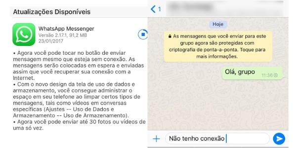 Seta azul de envio de mensagens estará habilitada offline