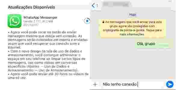 WhatsApp finalmente permite escrever mensagens no iPhone mesmo sem internet - Reprodução - Reprodução