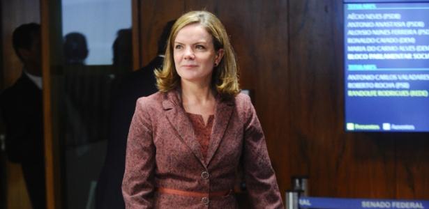 Senadora Gleisi Hoffmann (PT-PR) participa de sabatina de Alexandre de Moraes ao STF