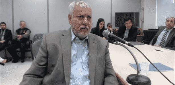 O ex-diretor de Serviços da Petrobras Renato Duque depõe a Moro - Divulgação/Justiça Federal do Paraná