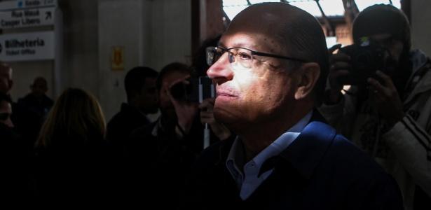 O governador de São Paulo, Geraldo Alckmin (PSDB), na estação da Luz
