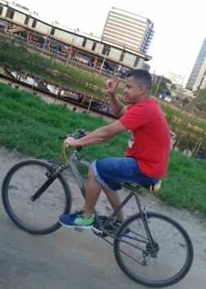 Gilmar Mata pedalava em ciclovia pouco antes de ser atropelado