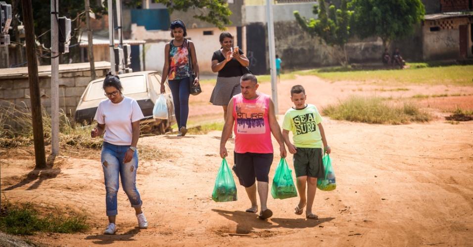 14.abr.2018 - Cerca de mil famílias moram na ocupação Pinheirinho 2, no Iguatemi, extremo leste de São Paulo