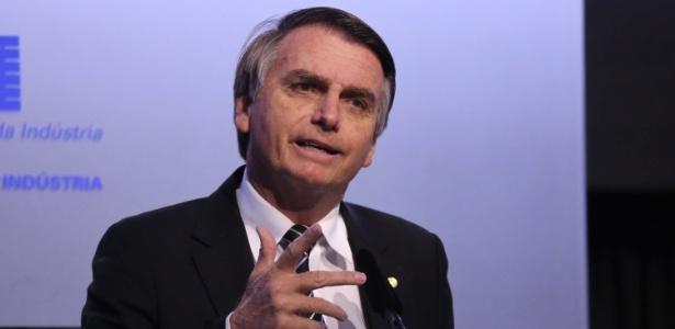 4.jul.2018 - Jair Bolsonaro (PSL-RJ) durante evento em Brasília