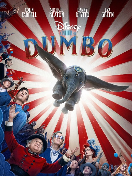 """Versão live-action de """"Dumbo"""" ganha pôster com o elefante em pleno voo - Reprodução/Twitter"""