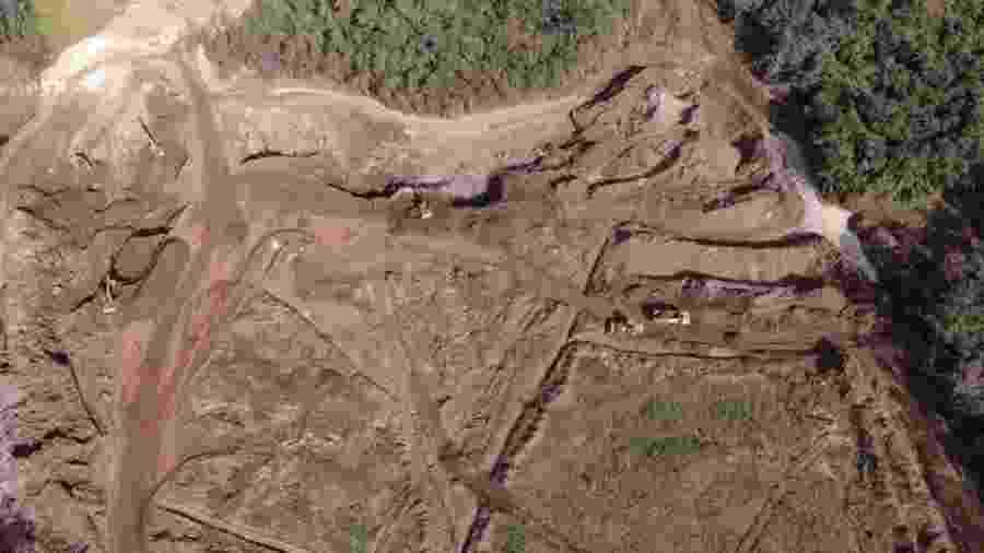 5.jul.2019 - Área que os bombeiros chamam de Remanso 2, onde foi encontrado hoje mais um corpo quase intacto - Divulgação/CBMMG