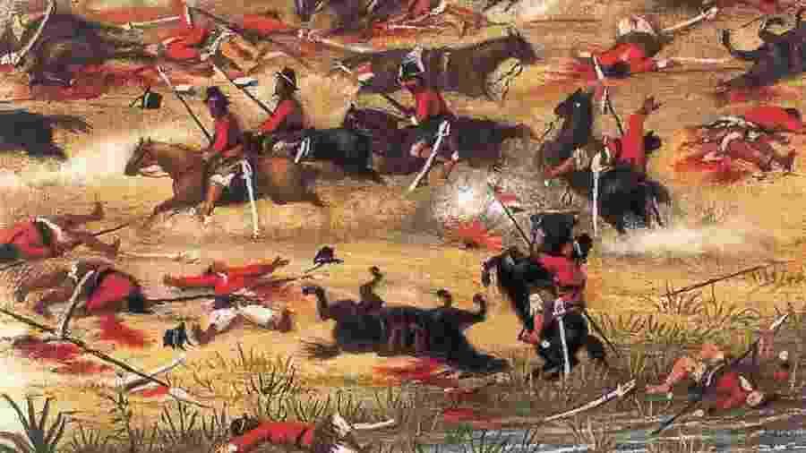 No Brasil, a chamada batalha de Acosta Ñu conhecida como a Batalha de Campo Grande - Getty Images