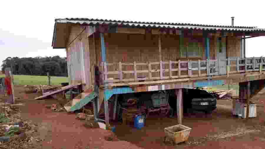Local do crime em Machadinho, no Rio Grande do Sul - Reprodução/Brigada Militar