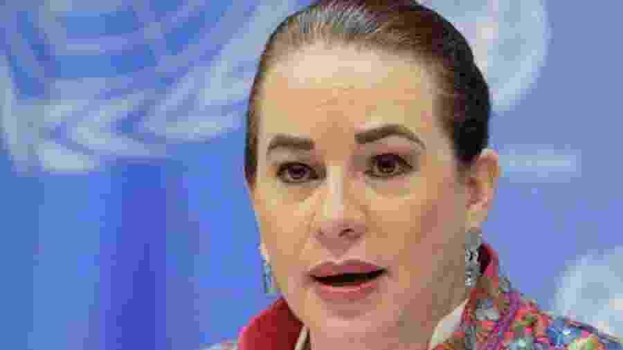 """Questionada pela BBC News Brasil sobre que conselho daria ao presidente brasileiro e aos outros líderes estreantes, Espinosa disse que a ONU é um lugar de """"diálogo"""", """"concordância"""" e """"conversa"""" - Manuel Elias/ONU/BBC"""