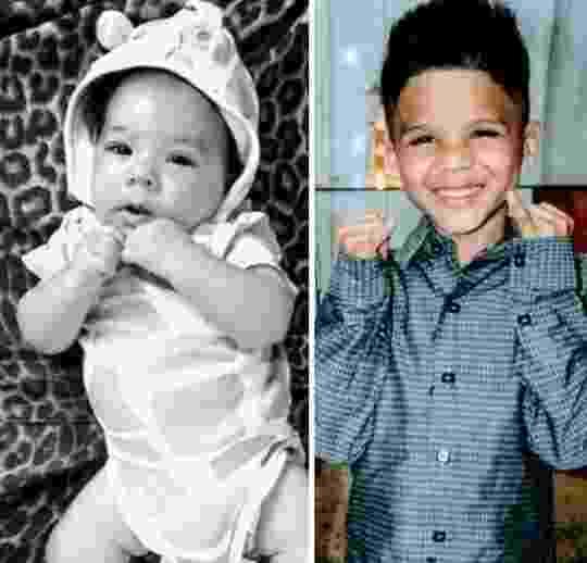 Anthony Gael Felix Oliveira, 6 meses, e Richard Gabriel Felix Oliveira, 6, mortos em decorrência das chuvas em Ibirité (região metropolitana de BH) - Reprodução