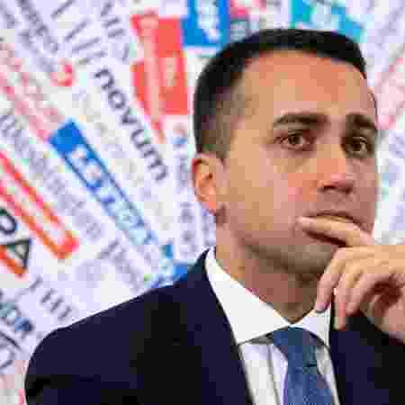 Ministro das Relações Exteriores da Itália, Luigi Di Maio - Tiziana Fabi/ AFP