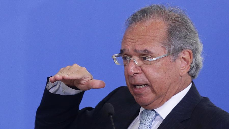 O ministro da Economia, Paulo Guedes fez afirmação durante audiência pública da comissão da reforma tributária no Congresso - Dida Sampaio/Estadão Conteúdo